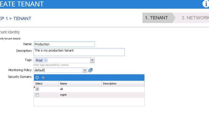 ACI - Create Tenant