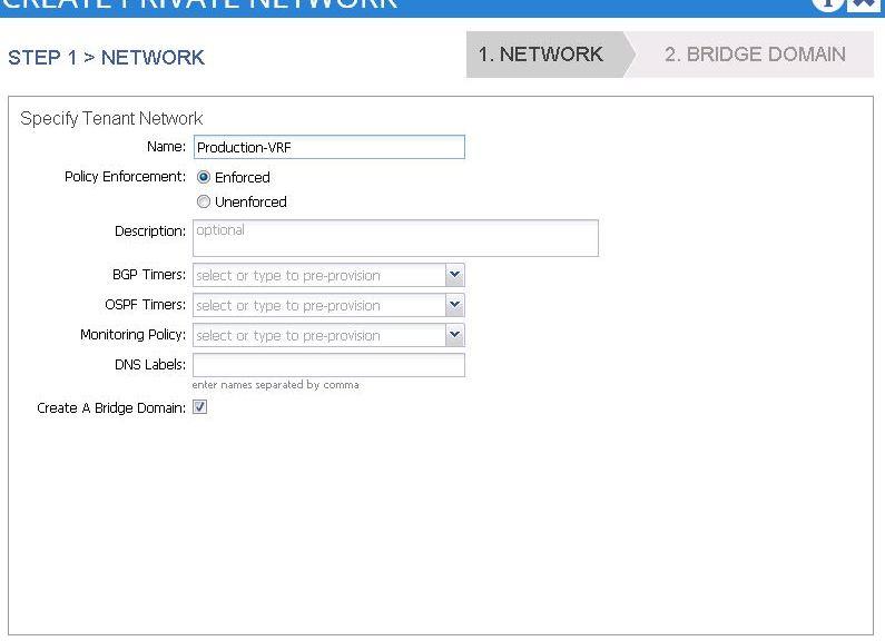 ACI - Private Network